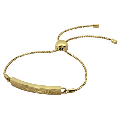 Hawaiian Charm Bracelet - 14K Gold Plated Stainless Steel