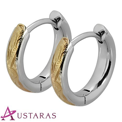 Hawaiian Hoop Earrings by Austaras - A Delicate Touch of Beauty