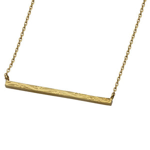 Austaras Hawaiian Bar Necklace - 14K Gold Plated Stainless Steel Pendant