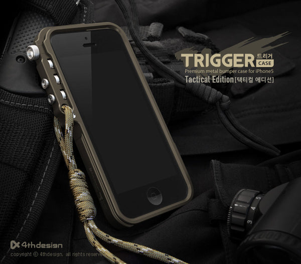 Trigger Premium metal bumper Phone Case  metal frame bumper for iphone 8 4 4s 5 5s SE 6 6S 7 plus aluminum case