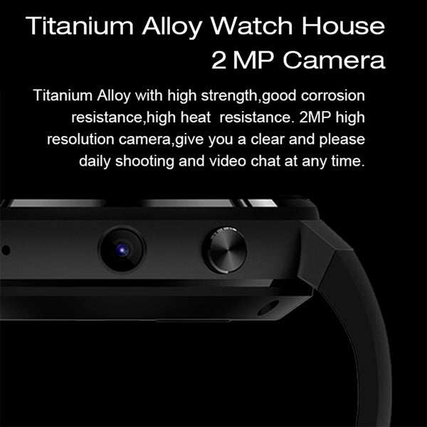 Smart Watch Android 7.0  LTE 4G Smart Watch Phone Heart Rate 1GB + 16GB Memory with Camera