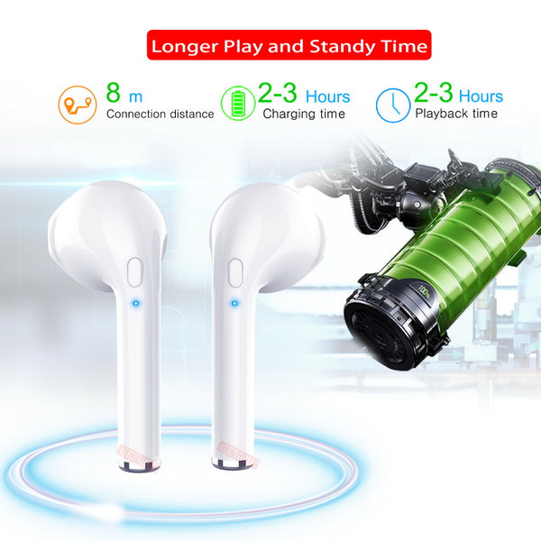 Bluetooth Wireless Ear Headphones Handsfree Sport For iPhone Samsung