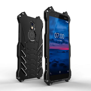 Nokia 7 plus Armor Heavy Dust Metal Aluminum Protect Skeleton Cover For For Nokia 7 Plus