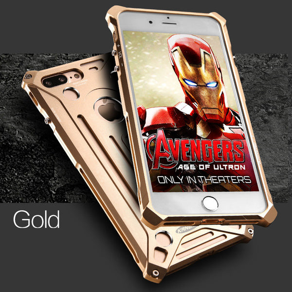 For iphone 5 6 S 7 8 Plus Aluminum Alloy Metal Shockproof Anti-Knock Bumper Luxury Phone Cover Case For iphone se 6s plus Shell