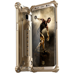 Luxury Doom Armor Dirt Shock Anti-knock Metal Aluminum phone Case FOR s7 S8 plus edge case