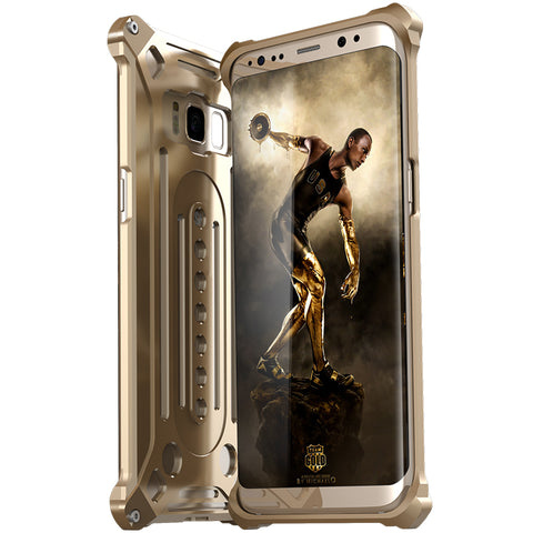 Luxury Doom Armor Dirt Shock Anti-knock Metal Aluminum phone Case FOR s7 S8 plus edge case - FreeTheGadgets