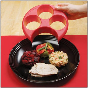 New  Meal Measure Portion Control Plate
