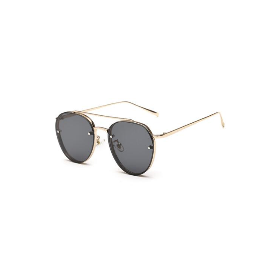 Alison - Clear Lens Round Sunglasses