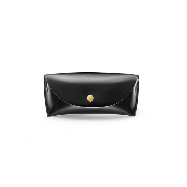 Black PU Leather Glasses Case