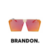 Brandon - Square Mirrored Lens Sunglasses