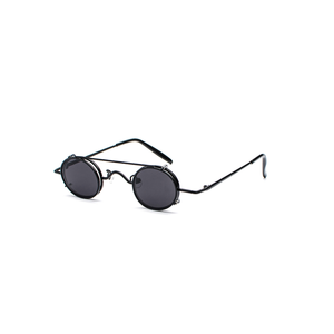 small oval sunglasses women retro vintage 2018 metal frame silver gold black punk clip on sun glasses for men gift