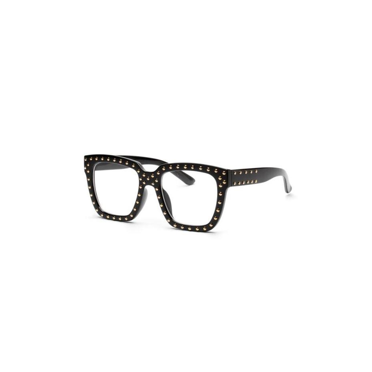 3fef2d6029 Kylie - Square studded frame with clear lens shade women sunglasses ...
