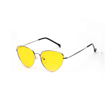 red cat eye sunglasses women clear lens sun glasses for women cat eye metal pink yellow uv400