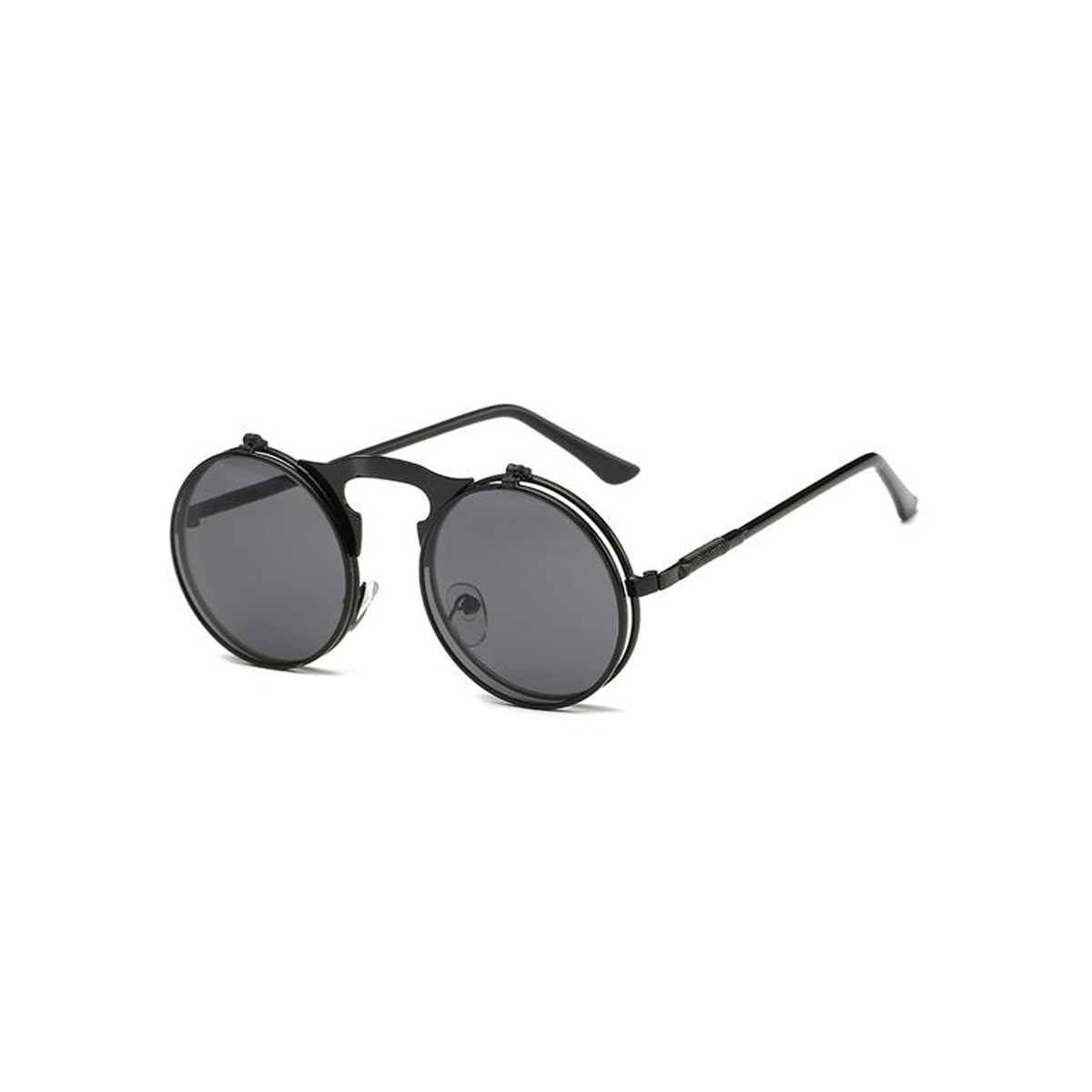 673cc34965 men vintage round steampunk sunglasses men small round flip up sunglasses  women retro metal silver cheap