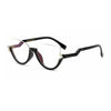 Becky - Clear Crystal Half-frame Cat-eye Eyeglasses