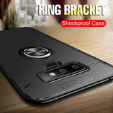 Luxury Bracket Ring Shockproof Case For Samsung Galaxy S8 S9 PLus Full Cover For Samsung Note 8 9 TPU Soft Silicone Holder Cases - mobilecare17