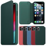 Leather Folio Case for iPhone 11 Pro max Wallet Slot Card Cover Capa for iphone 11 pro