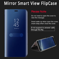 SMART Clear Mirror View Flip Case For iphone XS XS Max XR X 8 7 6S SAMSUNG GALAXY S8 S9 A7 Note 8 & 9 - mobilecare17
