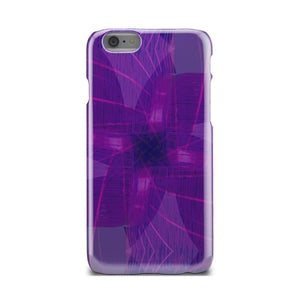 Pink And Purple Flower Line Design iPhone X Case - mobilecare17