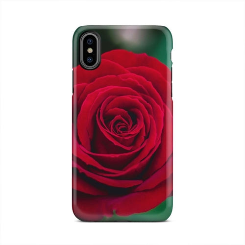Classic Red Rose Flower Romantic iPhone X Case