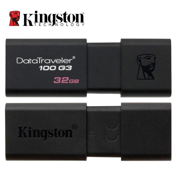 Kingston DT100G3 USB Flash Drives 16GB 32GB 64GB 128GB USB 3.0 Pen Drive Plastic Sleek Memory Memorias Disks