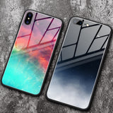 Tempered Glass Space Phone Case For iPhone XS Max XR X 8 7 6 6s Plus Soft TPU Edge Case 8plus Starry Moon Cover Coque - mobilecare17