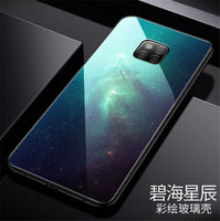 For Huawei Mate 20 Pro Huawei Mate 20 20X Case painted Tempered Glass Silicon Protective full Cover Cases - mobilecare17