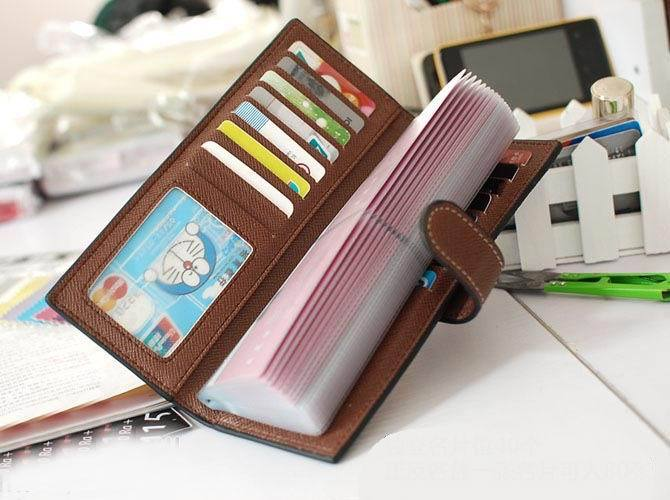 55 Cards Holders women leather wallet business id credit card holder case passport cover wallets card holder carteira feminina - mobilecare17