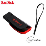 SanDisk Cruzer Blade CZ50 USB Flash Drive 128gb 64GB 32G 16GB 8GB Pen Drives USB 2.0 Support official verification 100% Original - mobilecare17