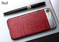XO NEW Fashion PU Leather Crocodile Pattern Phone Back Case Covers for iPhone 7 Plus 6s plus X 8 plus - mobilecare17