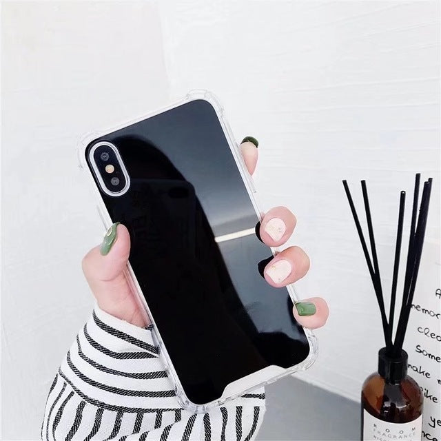 Drop Resistant Mirror Phone Case For iphone XS MAX XR X 7 8 6s 6 plus Protective Soft TPU Cover For Samsung Note 9 8 S8 S9 Plus - mobilecare17