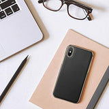 For iPhone Xs Max, Luxury Slim Fit Flexible Soft Full Body Grip Hybrid Bumper Shockproof Protective Cover Case