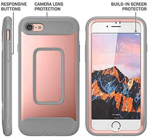 Heavy Duty Built-in Screen Protector Shockproof Slim Fit Cover For iPhone 8 & iPhone 7