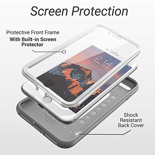 Heavy Duty Shockproof Case Built-in Screen Protector For  iPhone 8 Plus / 7 Plus