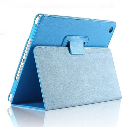 For Apple ipad 2 3 4 Case Auto Flip Litchi PU Leather Cover For New ipad 2 ipad 4 Smart Stand Holder Folio Case - mobilecare17