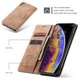 Luxury Leather Wallet Flip Case for iPhone X XR XS Max Case Cover - mobilecare17