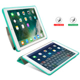 Case Cover for iPad 9.7 2017, GOLP PU Leather Magentic Smart Cover Soft TPU Back Protective Case for iPad 2018 cover A1822 A1823 - mobilecare17