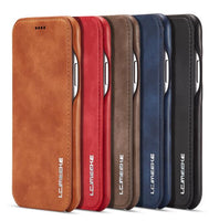 Magnetic Attraction Flip Cover Phone Case For IPhone 6 6s Plus Business Holster Retro Leather Case