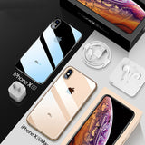 Ultra Thin Transparent Phone Case Plating Soft TPU Silicone Full Cover Shockproof - mobilecare17
