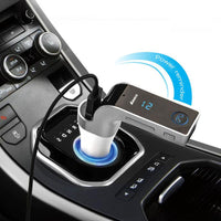 Multifunction 4-in-1 CAR G7 Bluetooth FM Transmitter USB Flash Drives TF Music Player Car Kit USB Car Charger