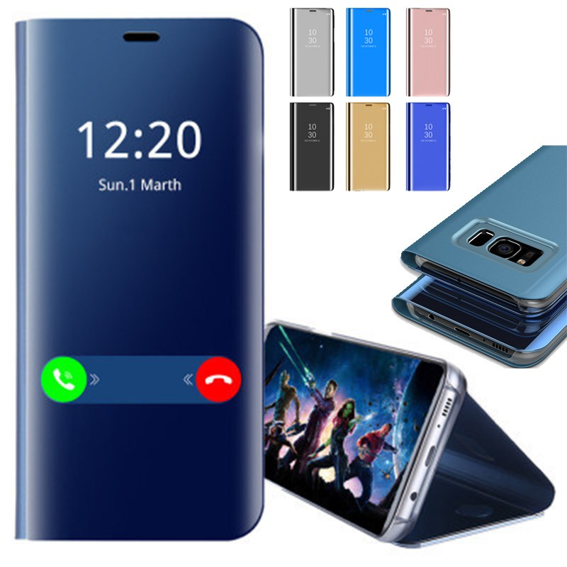 Smart Mirror Flip Case For Samsung Galaxy S8 S9 Plus S7 Edge S6 Phone Case For Samsung Note 9 - mobilecare17