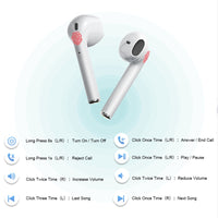i20 TWS Pop-up Air Wireless Bluetooth Earphones Touch Control Earbuds 1:1 Replica Size Headset - mobilecare17
