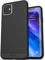 For iPhone 11 Phone Case (Thin Armor) Anti-Microbial Ultra Slim Grip Case (Anti Germs/Dirt) Black