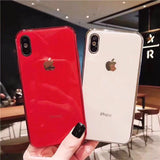 Tempered Glass Phone Case For iPhone X 10 7 8 XR XS Max Case Soft TPU Protective Back Cover Cases - mobilecare17