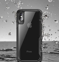 Shockproof Armor Case For iPhone XS XR 8 7 Plus Transparent Case Cover For iPhone 6 6S Plus 5 XS Max Luxury Silicone Case - mobilecare17