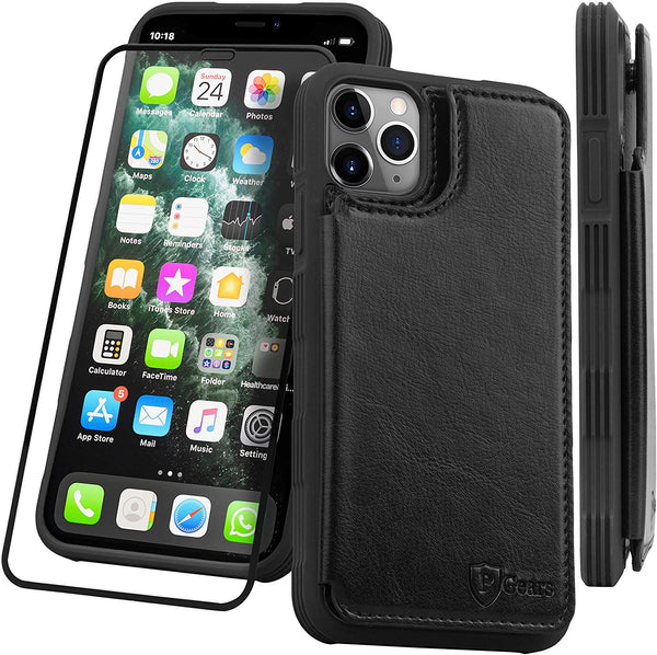 For iPhone 11 Pro Max PU Leather Wallet Case - Flip Wallet Case with Card Holder Pockets