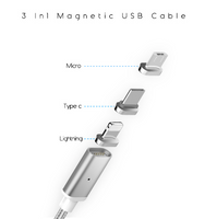 Magnetic Cable Magnetic Charger Cable USB/Type C/Lighting Fast Charger Data Cable - mobilecare17