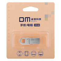 DM PD027 8G 16G 32GB USB Flash Drive Metal Pen Drive Key Ring Waterproof USB Stick Pendrive Flash Drive Metal