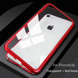 Metal Magnetic Case For iPhone XR XS MAX X 8 Plus 7 10 Tempered Glass Back Magnet Cases Cover For iPhone 7 6 6S Plus Case