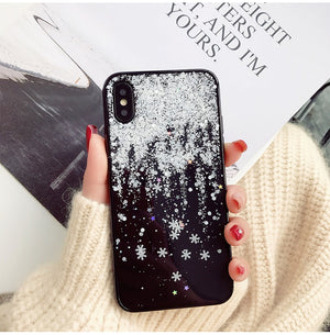 Snow Flower Soft Silicone Case For iPhone X XR Xs Max Stars Girl Cases Cover For iPhone 7 8 6 6s Plus - mobilecare17